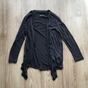 Black Drape Front Cardigan